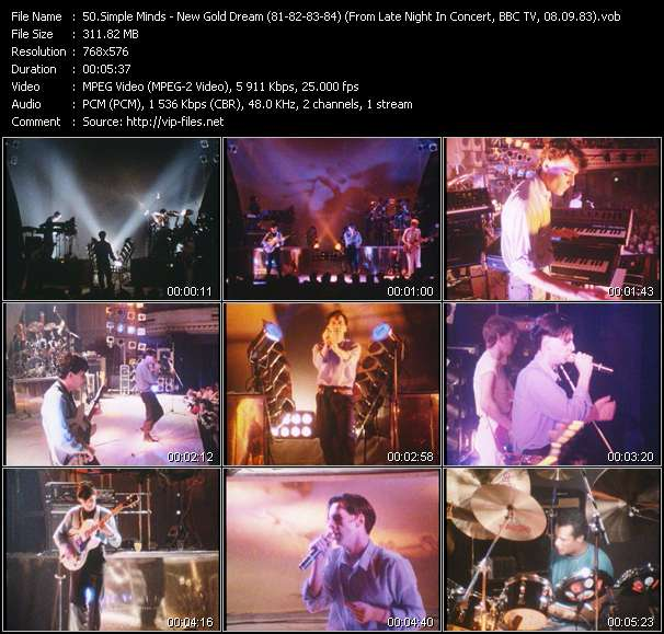 video New Gold Dream (81-82-83-84) (From Late Night In Concert, BBC TV, 08.09.83) (Recording From The Concert At City Hall, Newcastle, England, 20.11.82) screen