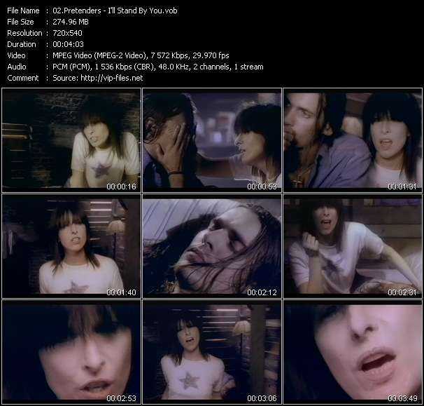 download Pretenders « I'll Stand By You » video vob