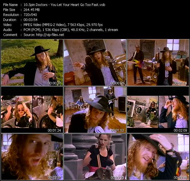 download Spin Doctors « You Let Your Heart Go Too Fast » video vob