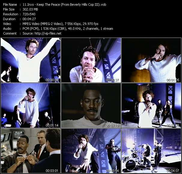 """download Inxs « Keep The Peace (From """"Beverly Hills Cop III"""") » video vob"""