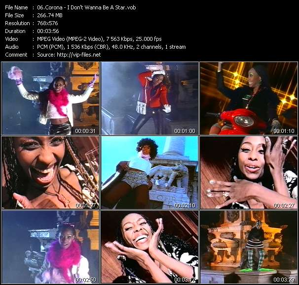 download Corona « I Don't Wanna Be A Star » video vob