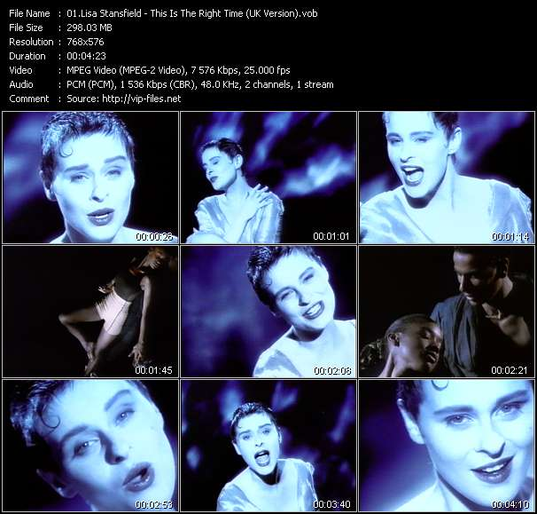 download Lisa Stansfield « This Is The Right Time (UK Version) » video vob