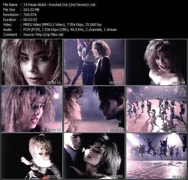 download Paula Abdul « Knocked Out (2nd Version) » video vob