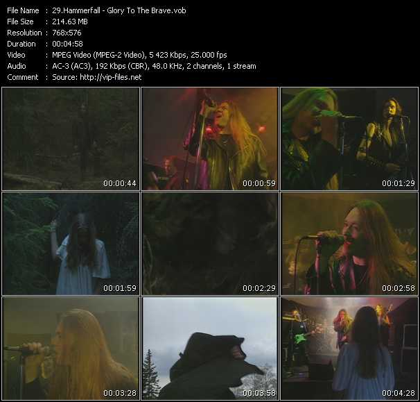 download Hammerfall « Glory To The Brave » video vob