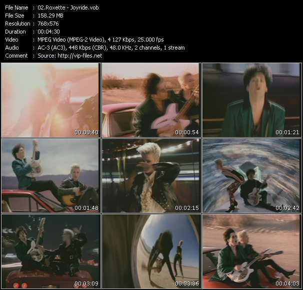 video Joyride screen