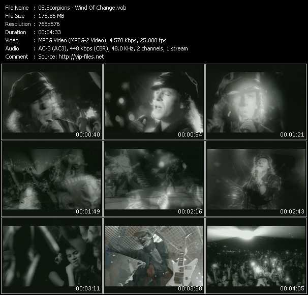 video Wind Of Change screen