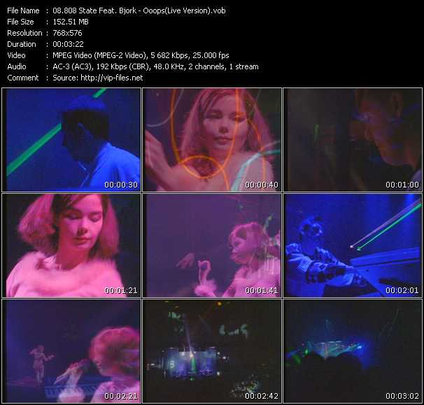 download 808 State Feat. Bjork « Ooops (Live Version) » video vob