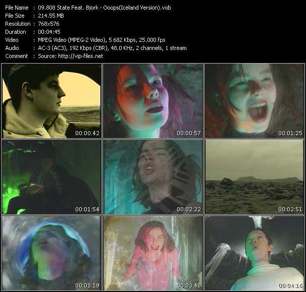 download 808 State Feat. Bjork « Ooops (Iceland Version) » video vob
