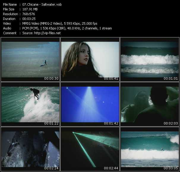 download Chicane « Saltwater » video vob