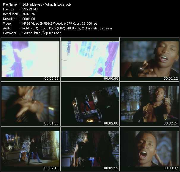 download Haddaway « What Is Love » video vob