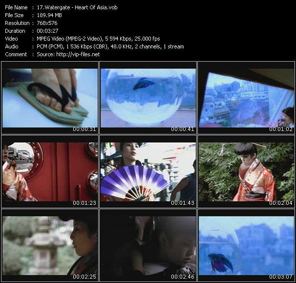 download Watergate « Heart Of Asia » video vob