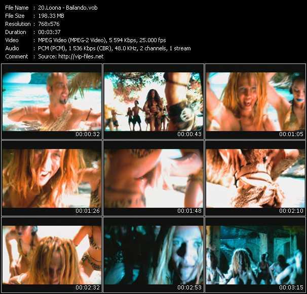 video Bailando screen