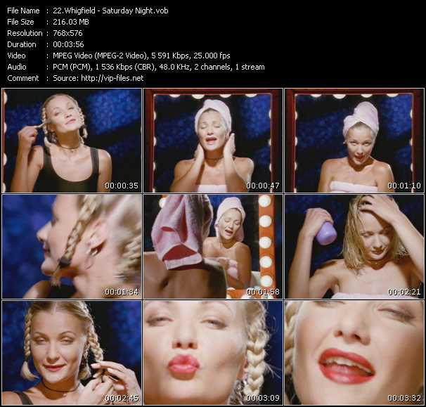 download Whigfield « Saturday Night » video vob