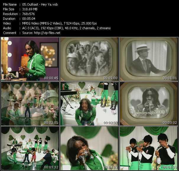 video Hey Ya screen