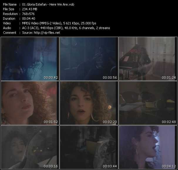 download Gloria Estefan « Here We Are » video vob