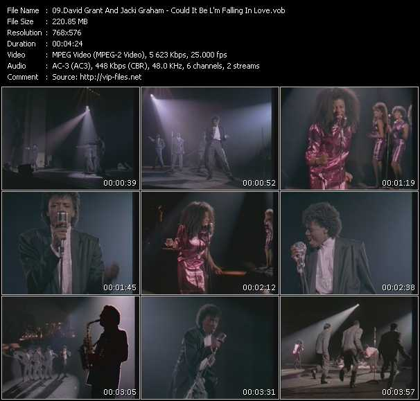 download David Grant And Jaki Graham « Could It Be I'm Falling In Love » video vob