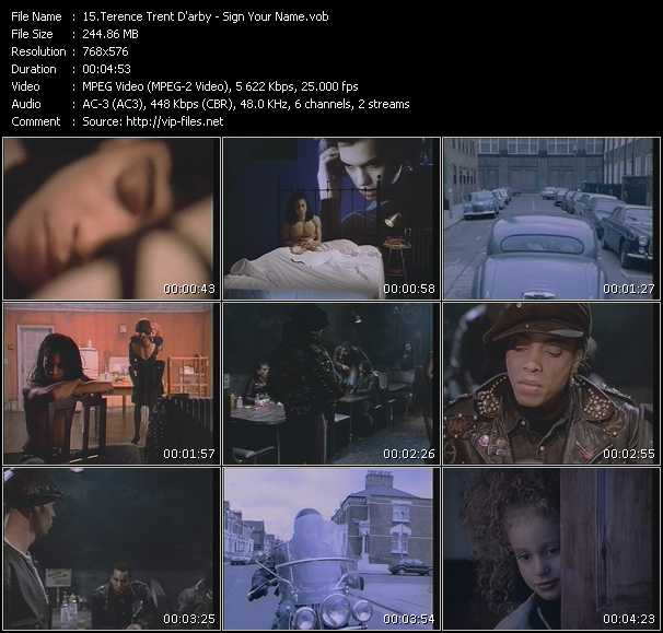 download Terence Trent D'Arby « Sign Your Name » video vob