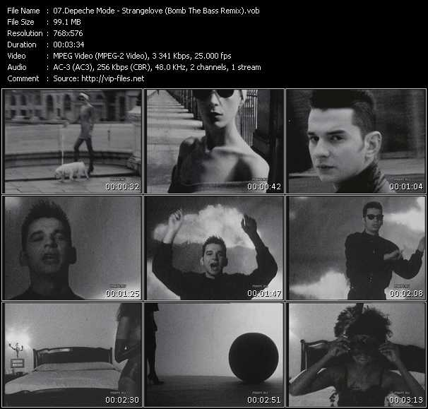 download Depeche Mode « Strangelove (Bomb The Bass Remix) » video vob
