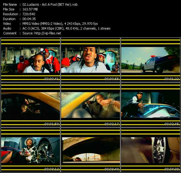 download Ludacris « Act A Fool (BET Version) » video vob
