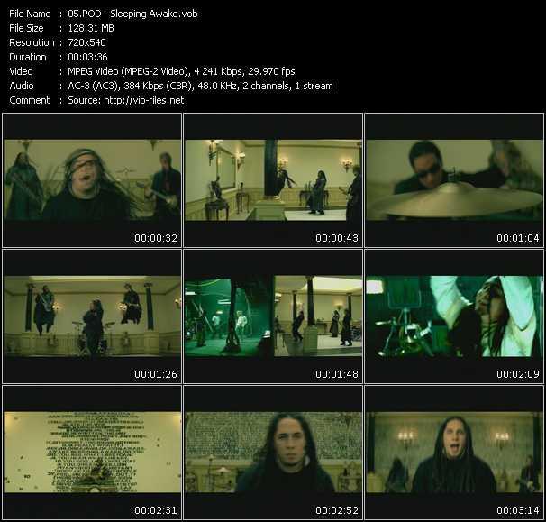 download P.O.D. « Sleeping Awake » video vob