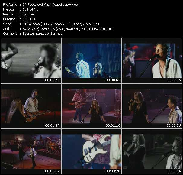download Fleetwood Mac « Peace Keeper » video vob