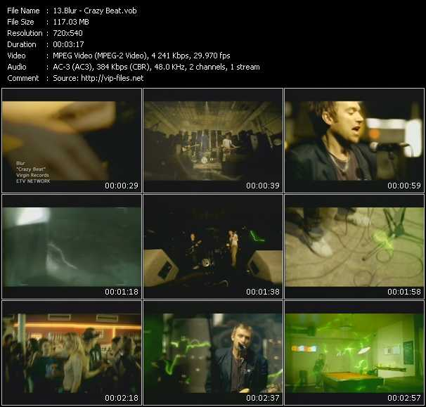 download Blur « Crazy Beat » video vob