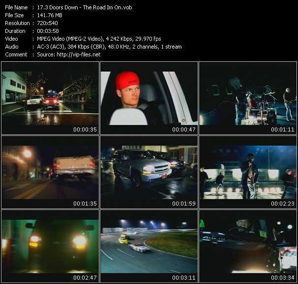 download 3 Doors Down « The Road Im On » video vob