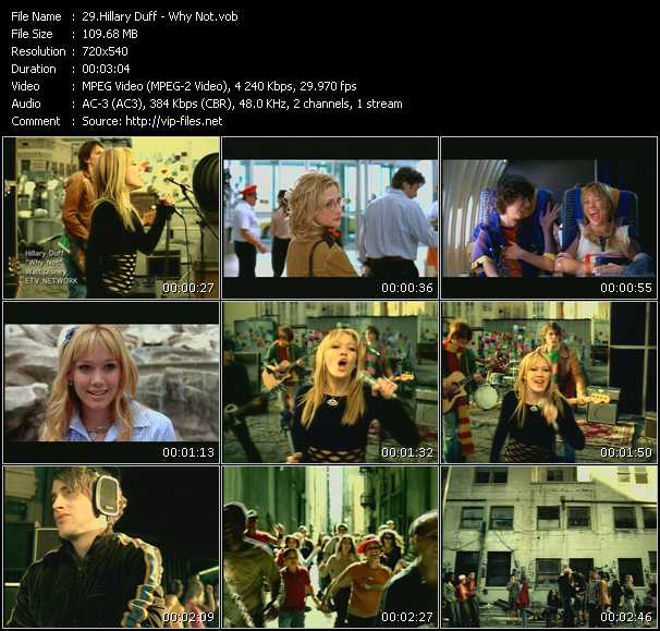 download Hilary Duff « Why Not » video vob