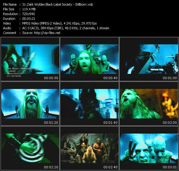 download Zakk Wyldes Black Label Society « Stillborn » video vob