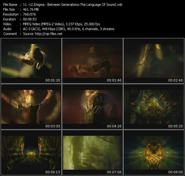 download Enigma « Between Generations - The Language Of Sound » video vob