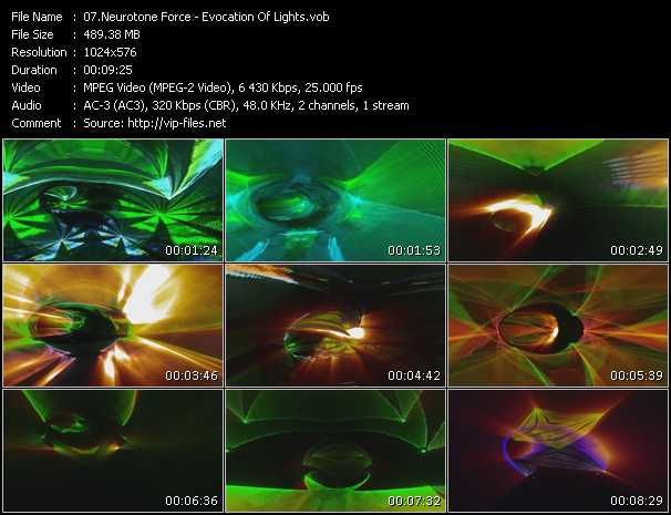 video Evocation Of Lights screen