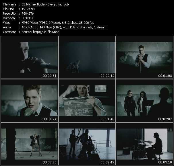 download Michael Buble « Everything » video vob