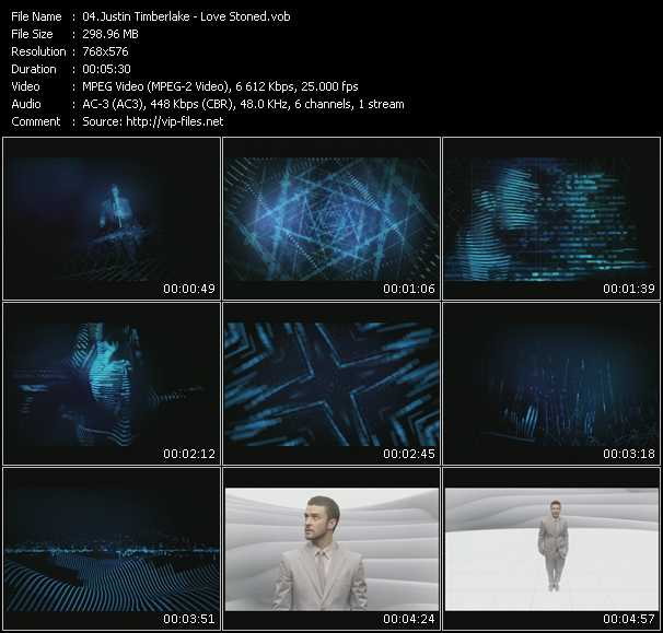 download Justin Timberlake « Love Stoned » video vob