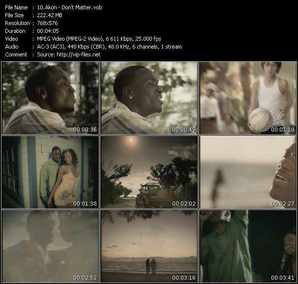 download Akon « Don't Matter » video vob