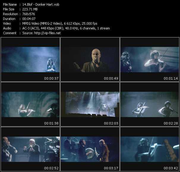 video Donker Hart screen