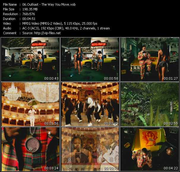 download Outkast « The Way You Move » video vob