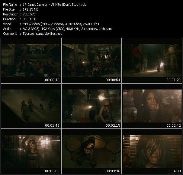 download Janet Jackson « All Nite (Don't Stop) » video vob