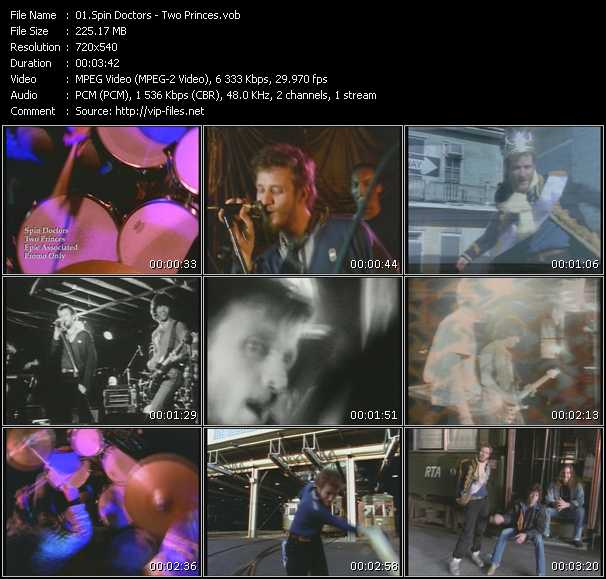download Spin Doctors « Two Princes » video vob