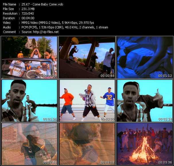 video Come Baby Come screen