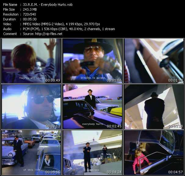 video Everybody Hurts screen