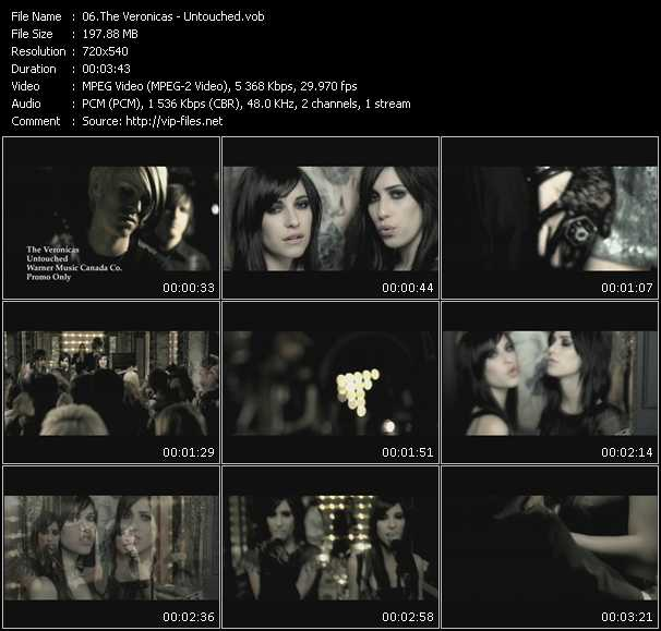 download Veronicas « Untouched » video vob