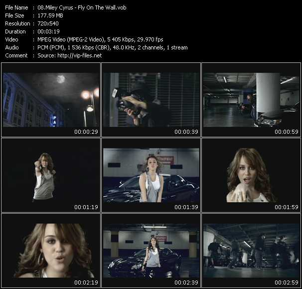 download Miley Cyrus « Fly On The Wall » video vob