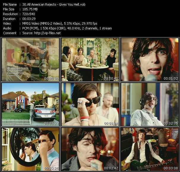 download All-American Rejects « Gives You Hell » video vob