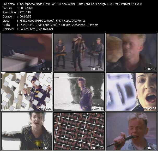 download Depeche Mode - Flesh For Lulu - New Order « Just Can't Get Enough - I Go Crazy - Perfect Kiss » video vob