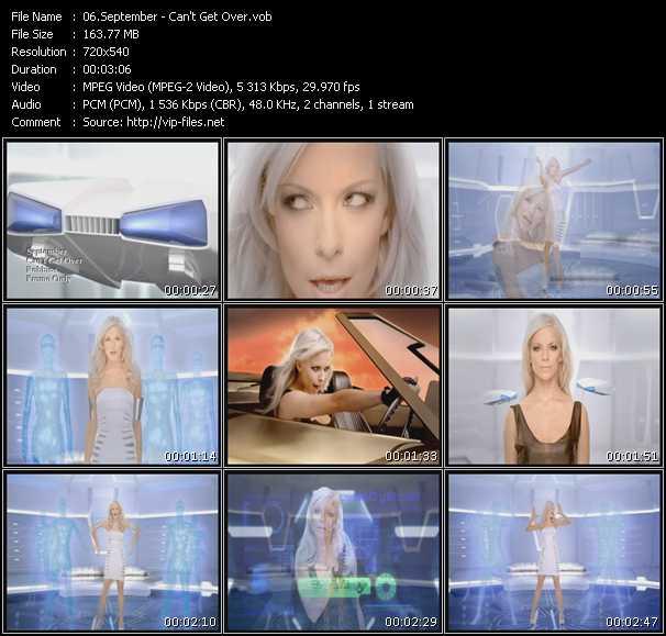 download September « Can't Get Over » video vob