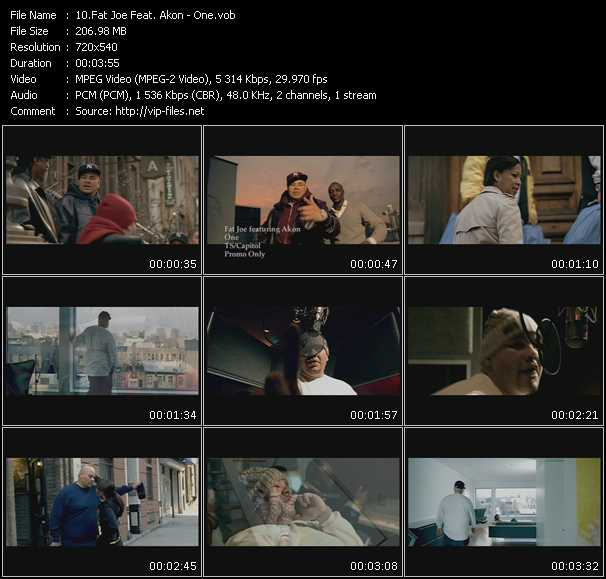 download Fat Joe Feat. Akon « One » video vob