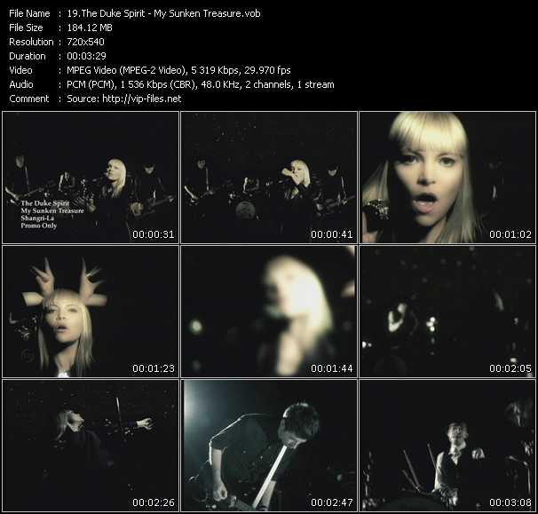 download Duke Spirit « My Sunken Treasure » video vob