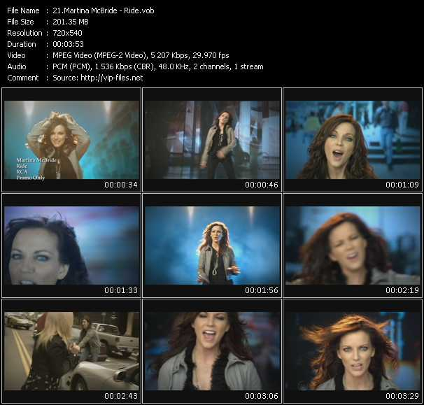 download Martina McBride « Ride » video vob
