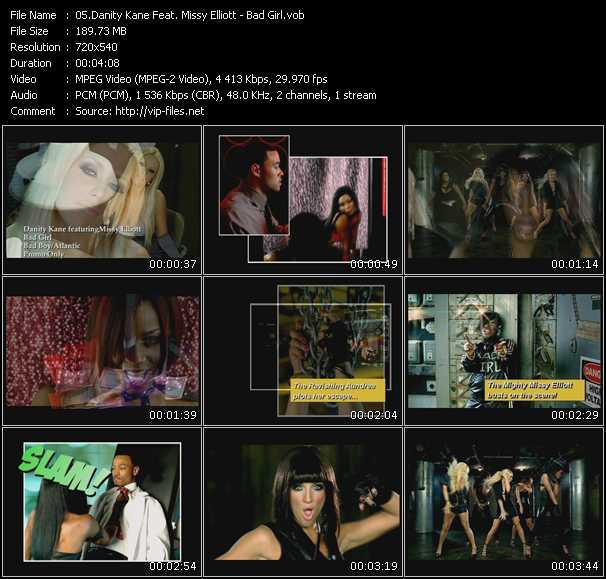 download Danity Kane Feat. Missy Elliott « Bad Girl » video vob