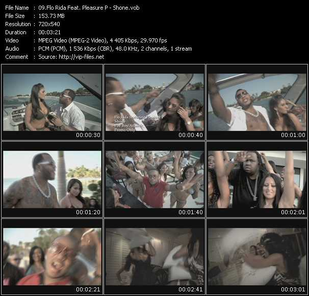 download Flo Rida Feat. Pleasure P « Shone » video vob